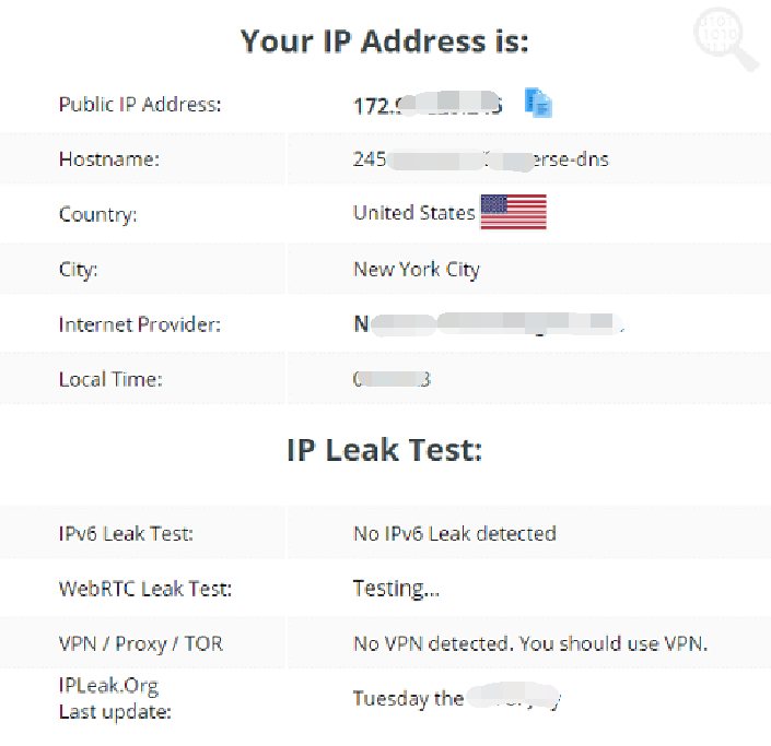 Surfshark VPN IP Leak Test