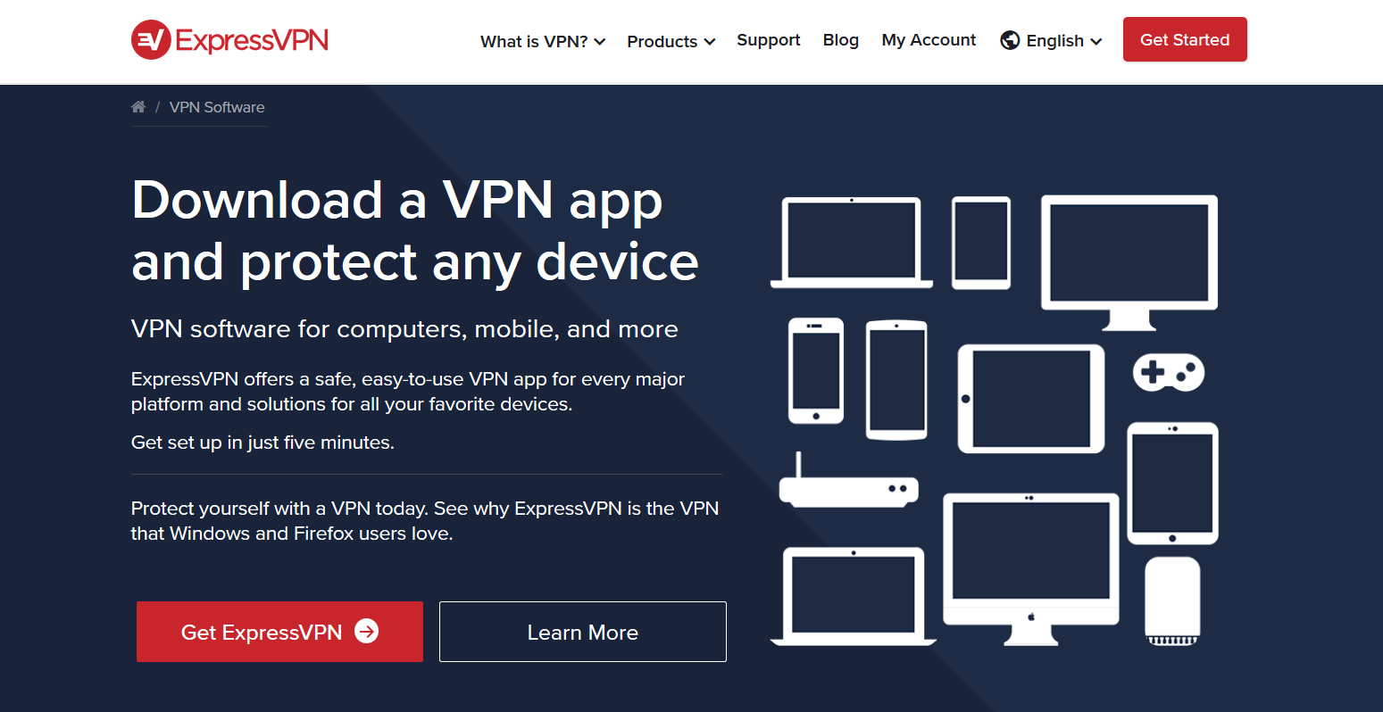 Download ExpressVPN app and protect any device