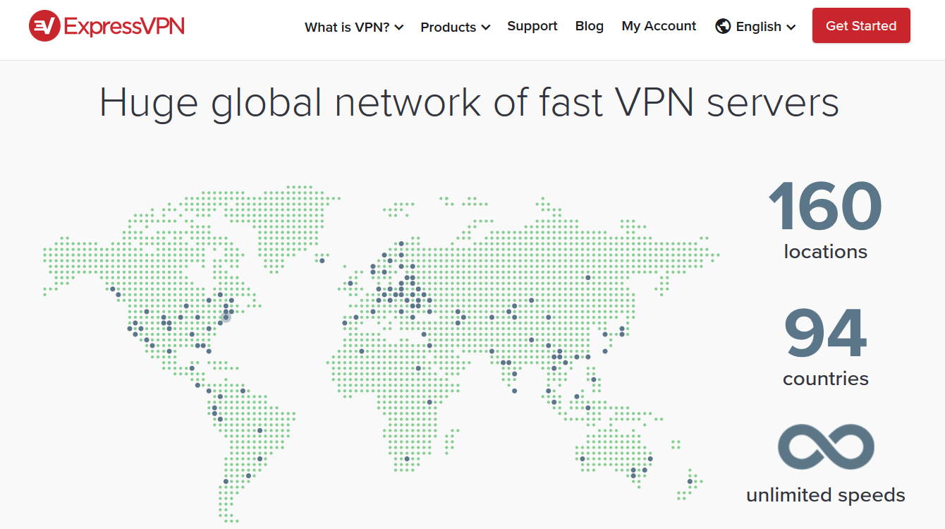 Expressvpn has 3,000 servers and 25,000 ips in 94 countries