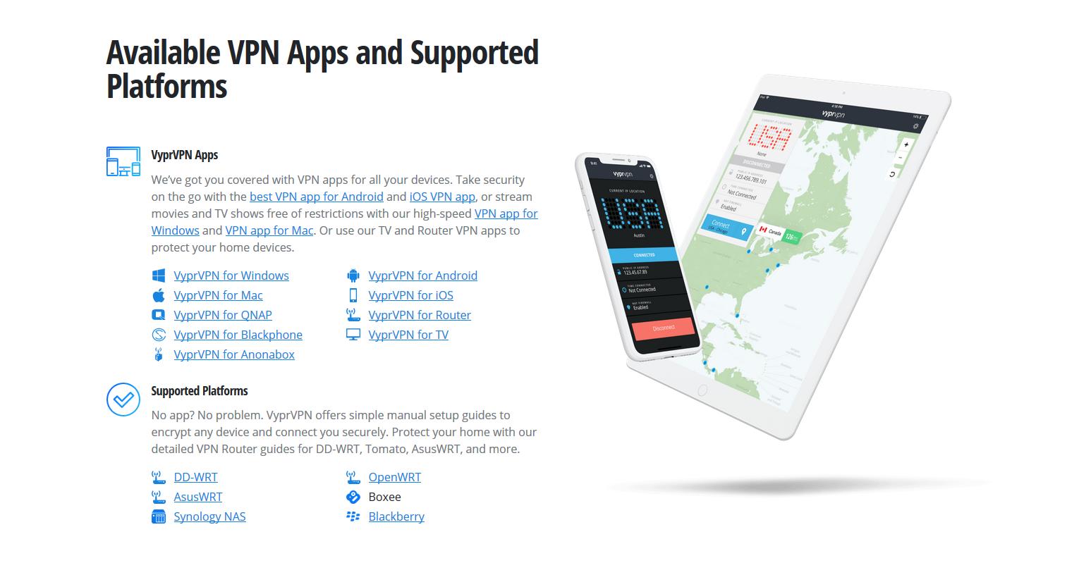 VyprVPN Available VPN Apps and Supported Platforms