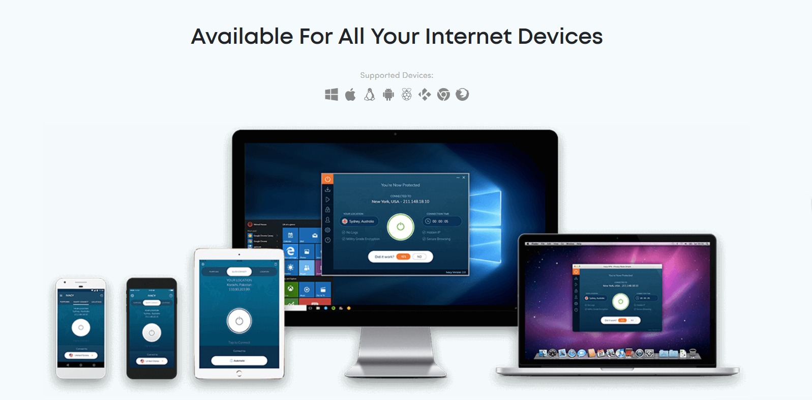 Ivacy VPN Available For All Your Internet Devices