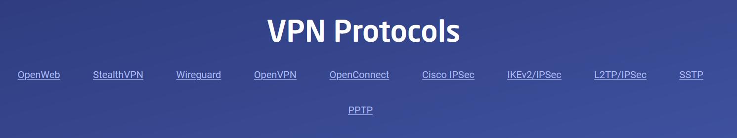 Astrill VPN Protocols