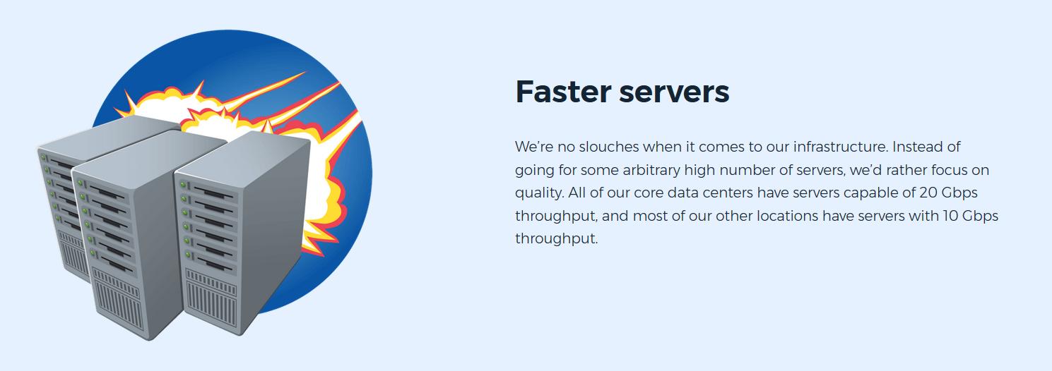 HMA Faster Servers