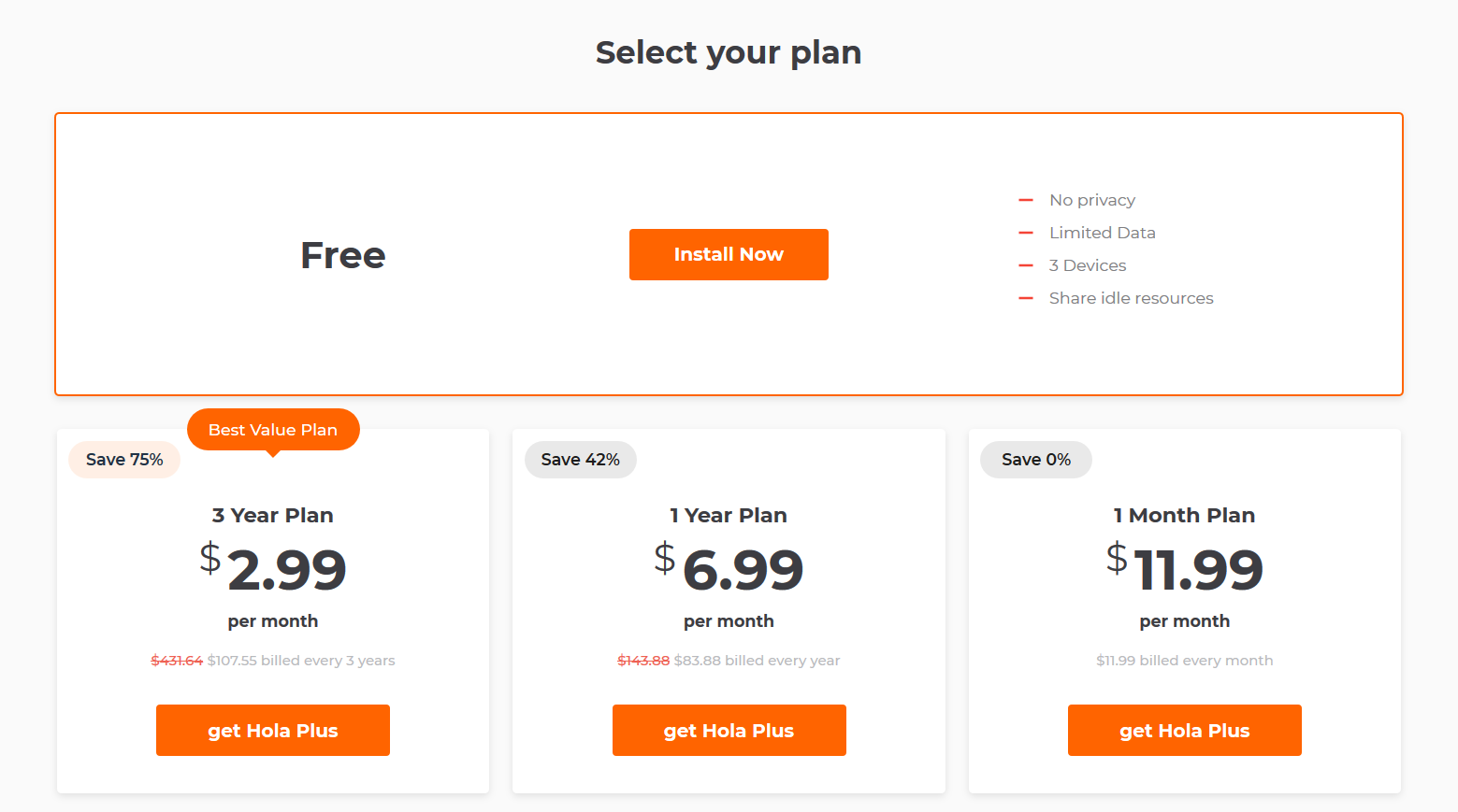 Hola Free VPN Price