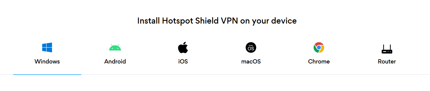 Install Hotspot Shield VPN on your device